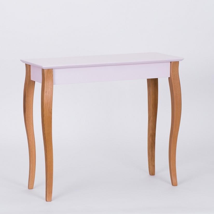 Ružový odkladací stolík Ragaba Console,dĺžka85cm