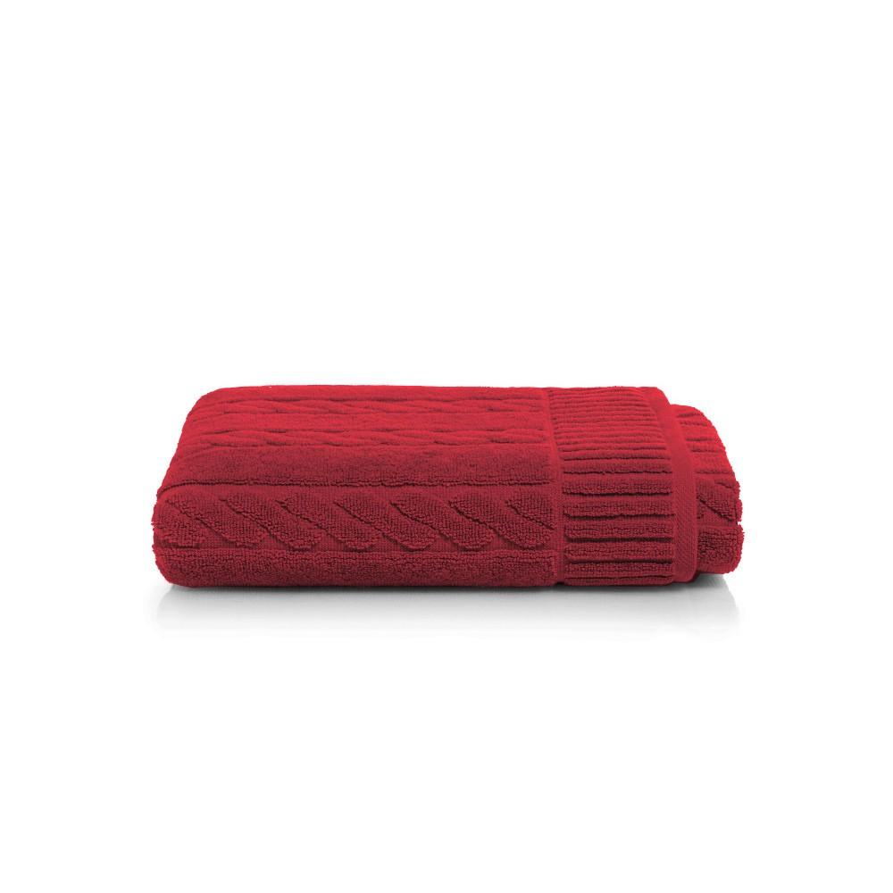 Červená bavlnená osuška Maison Carezza Amelia, 70×140 cm