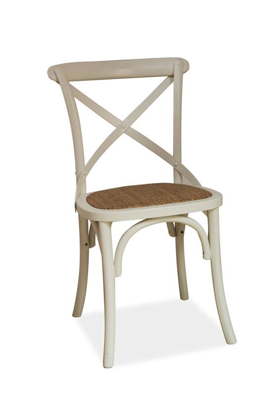 LAROS jedálenská stolička, biela