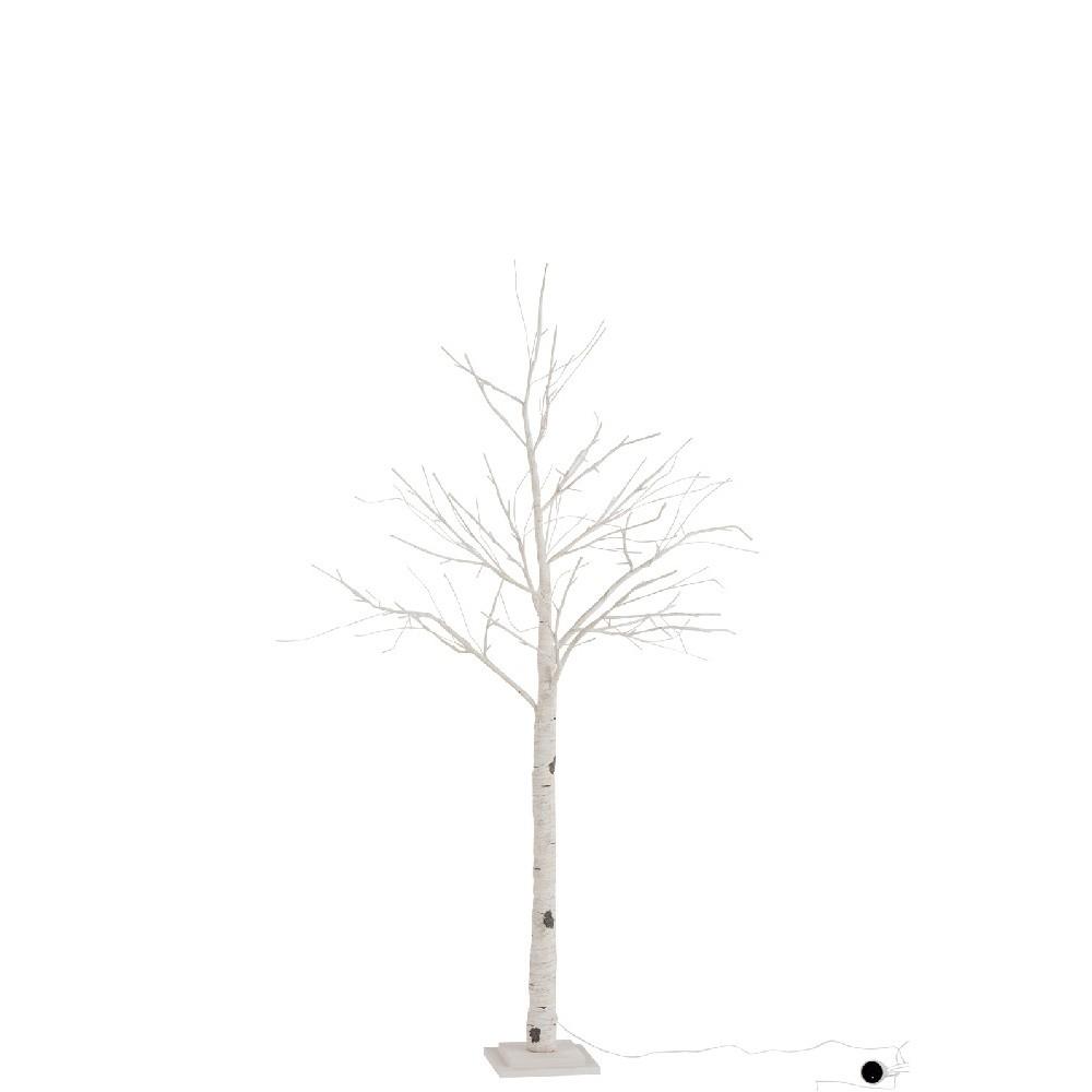 Svietiaci LED dekoratívny papierový stromček J-Line Birch, výška 160 cm