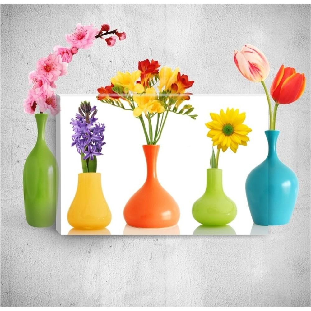 Nástenný 3D obraz Mosticx Colourful Bottles, 40×60 cm