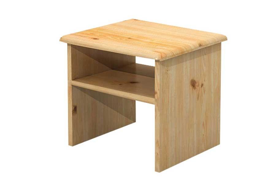 Bradop Nočný stolík, masív borovica B011