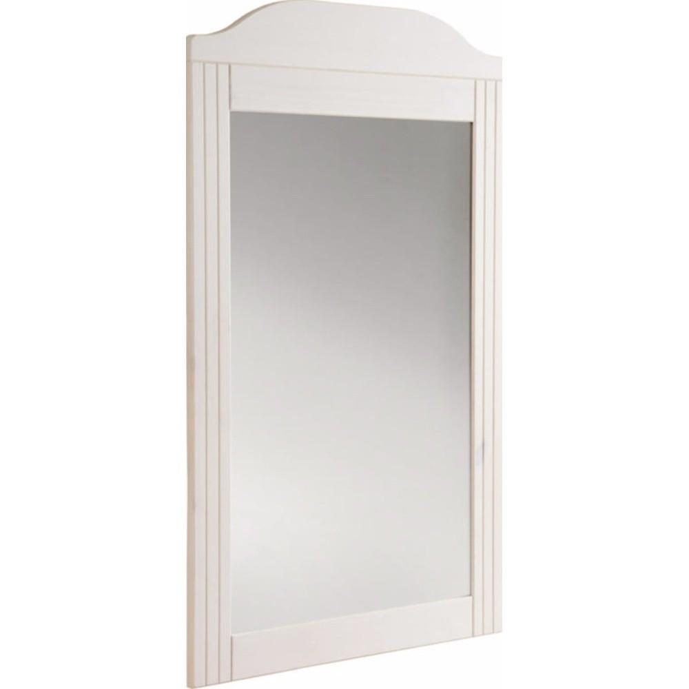 Biele nástenné zrkadlo z masívneho borovicového dreva Støraa Fiona