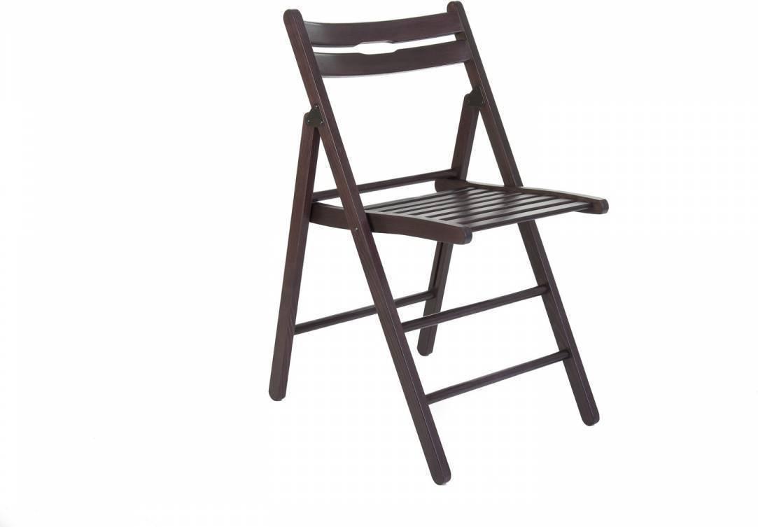 Skladacia stolička KLOPKLIP - hnedá