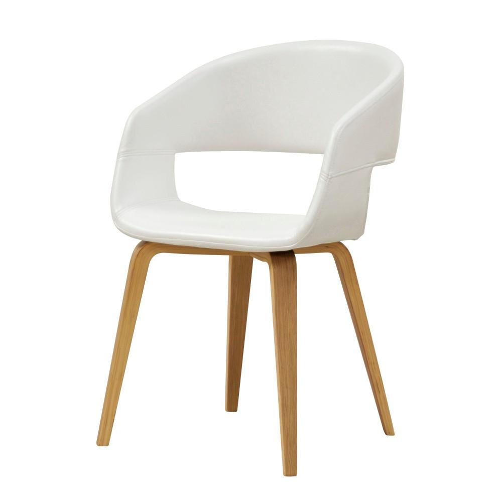 Biela jedálenská stolička Interstil Nova Nature