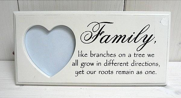 fotorámik family biely s nápisom 24 x 11,5 cm