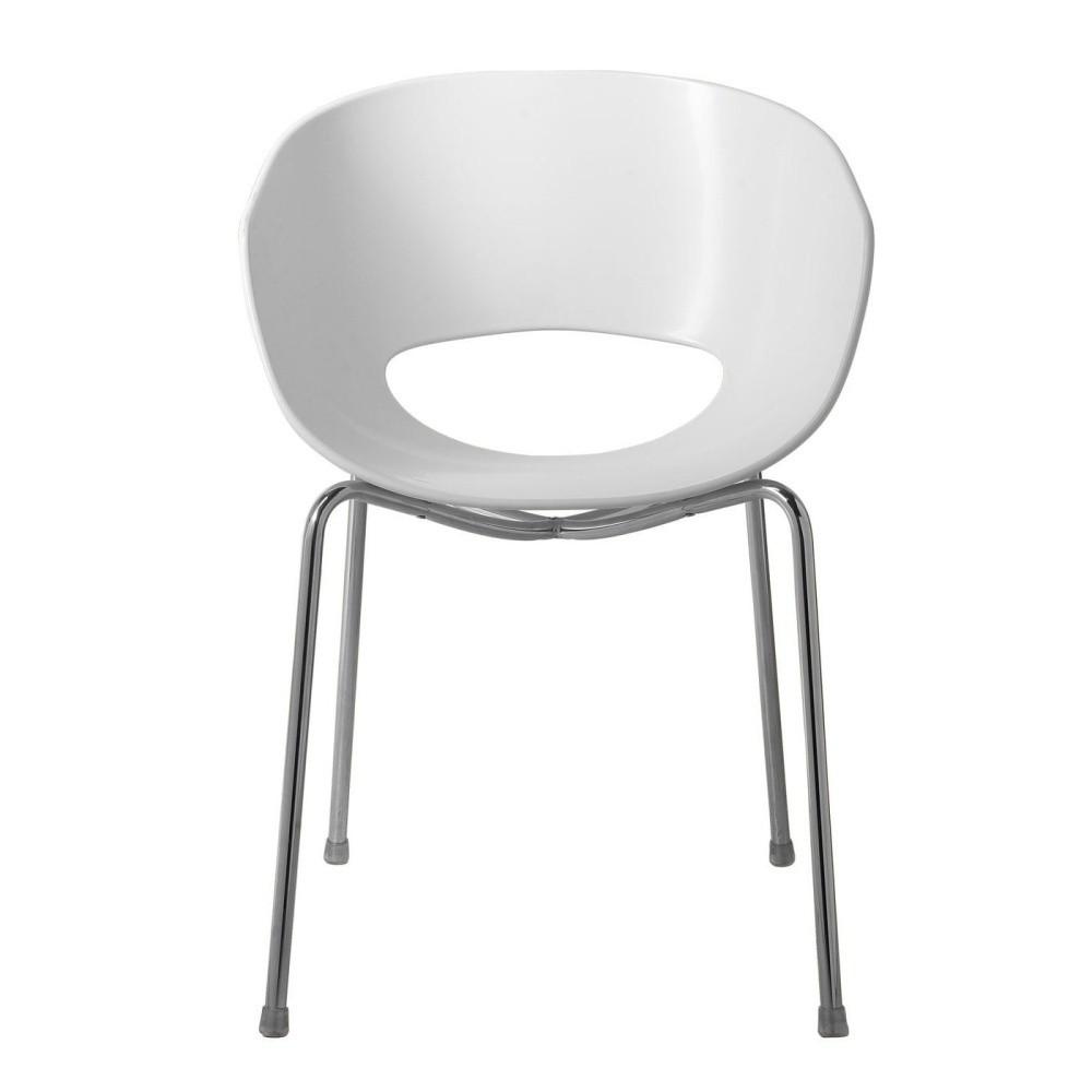 Biela stolička Kare Design Eggshell
