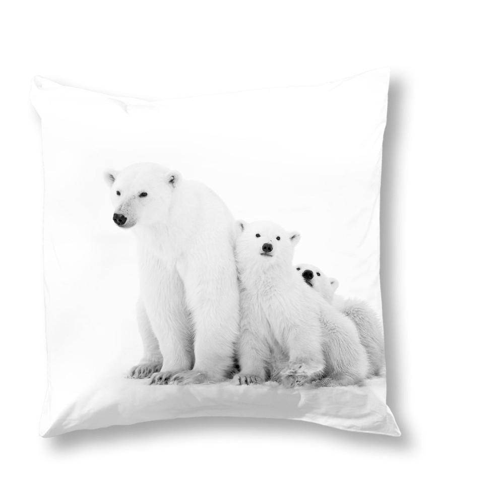 Obliečka na vankúš Muller Textiels Icebear, 50 x 50 cm