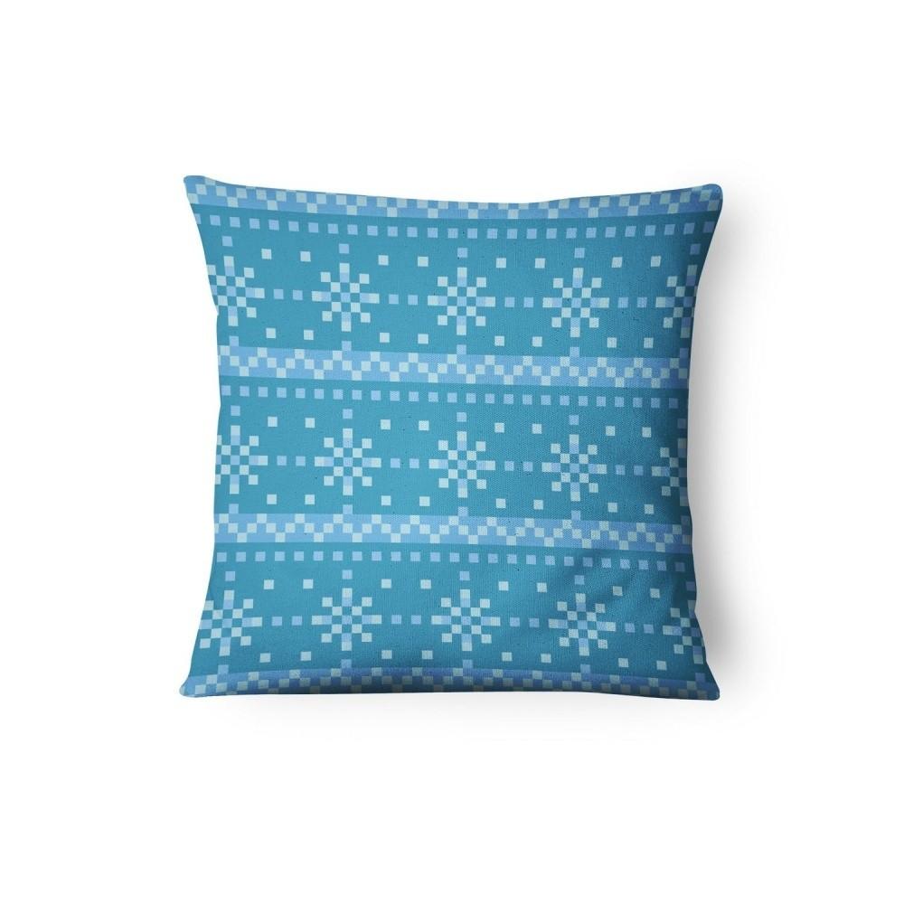 Modrá obliečka na vankúš Xmas Decorative, 45 x 45 cm