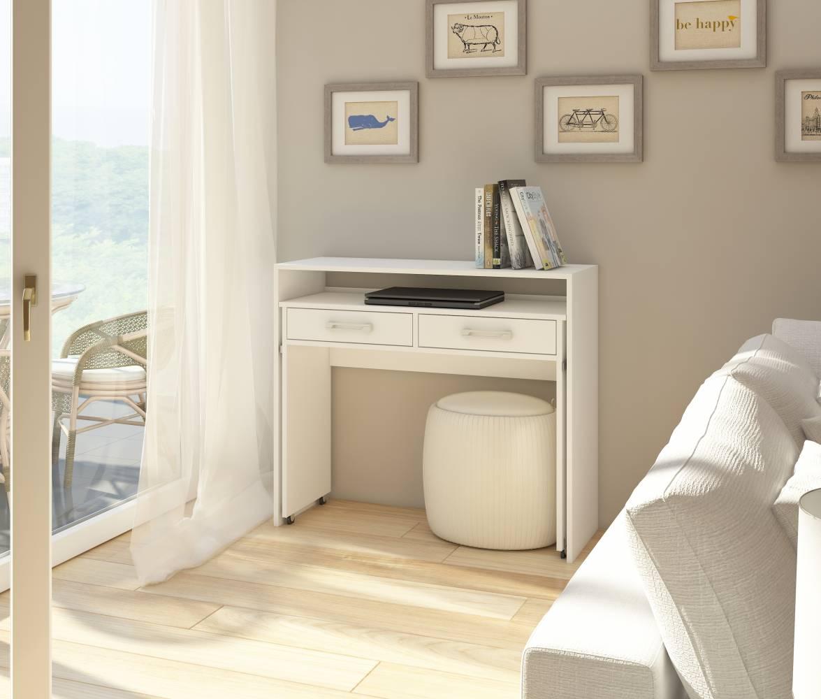 PC stolík Zoom biela