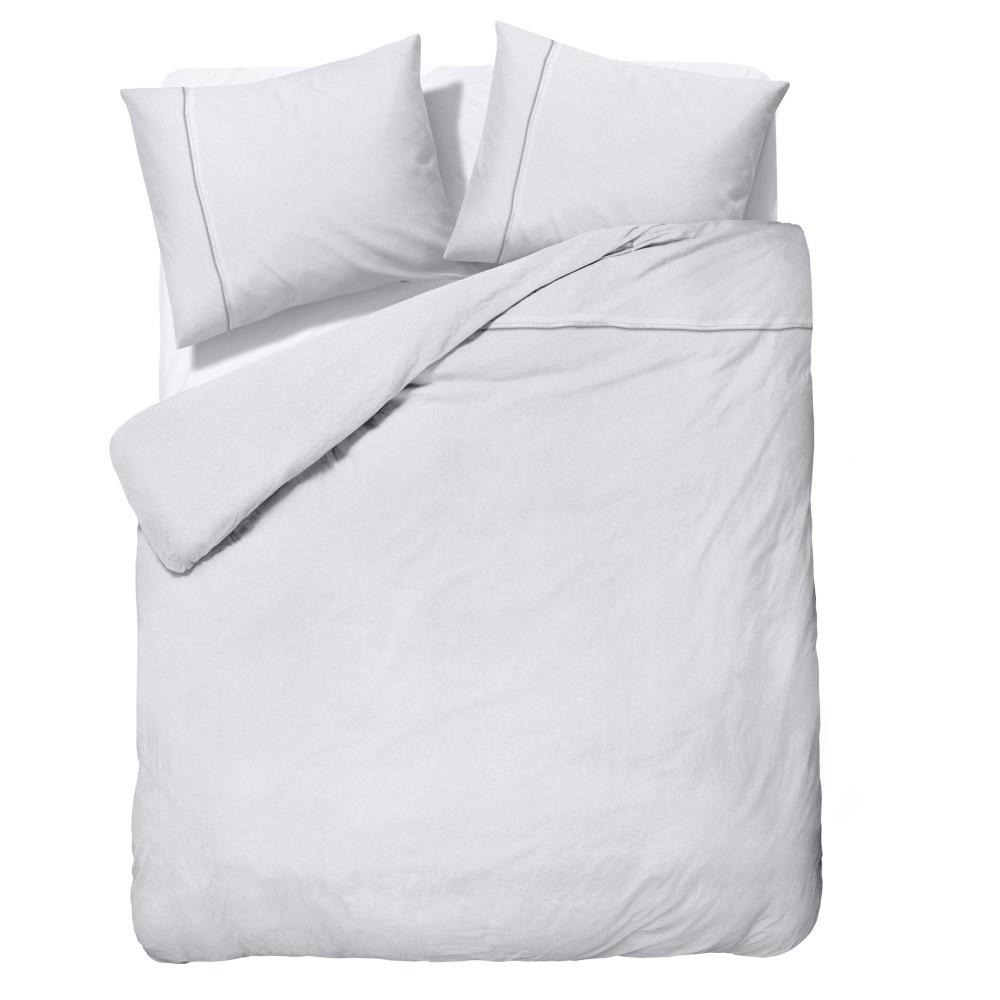 Biele obliečky z mikroperkálu Zensation Satin Monte Carlo, 200 x 200 cm