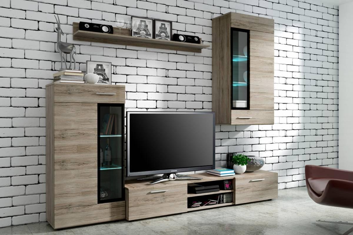 Moderná obývacia stena TANIA, dub SanRemo