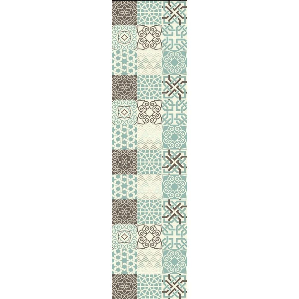 Vinylový koberec Huella Déco Turquesa 180x50 cm