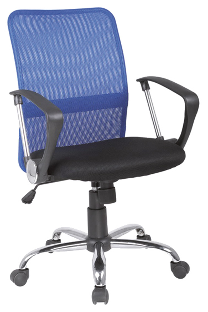 Kancelárska stolička Q-078 modrá + čierna