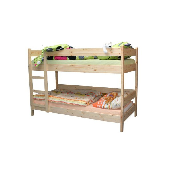 Bradop Poschodová posteľ 90 x 200, masív smrek B481