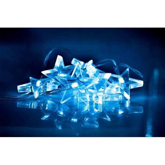 Solight Vianočná reťaz Hviezdy 10 LED modrá, 1,5 m
