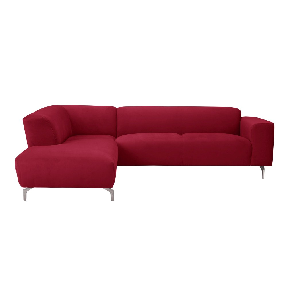 Červená rohová pohovka Windsor & Co Sofas Orion, ľavý roh
