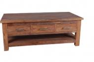Furniture nábytok  Masívny konferenčný stolík / TV stolík z Palisanderu  Fazl  118x60x45 cm