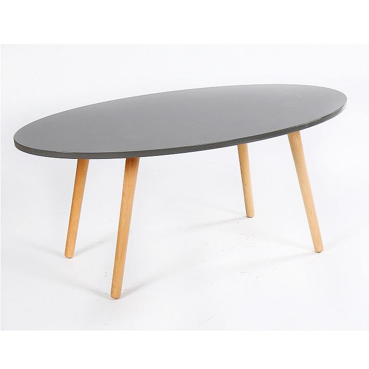 TEMPO KONDELA Konferenčný stolík, sivá/natural, BAZZY 1