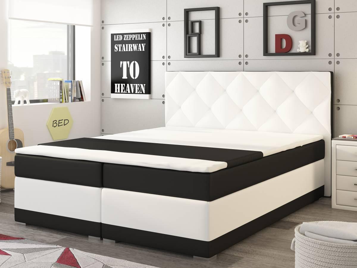 Manželská posteľ Boxspring 160 cm Modena (s matracom)