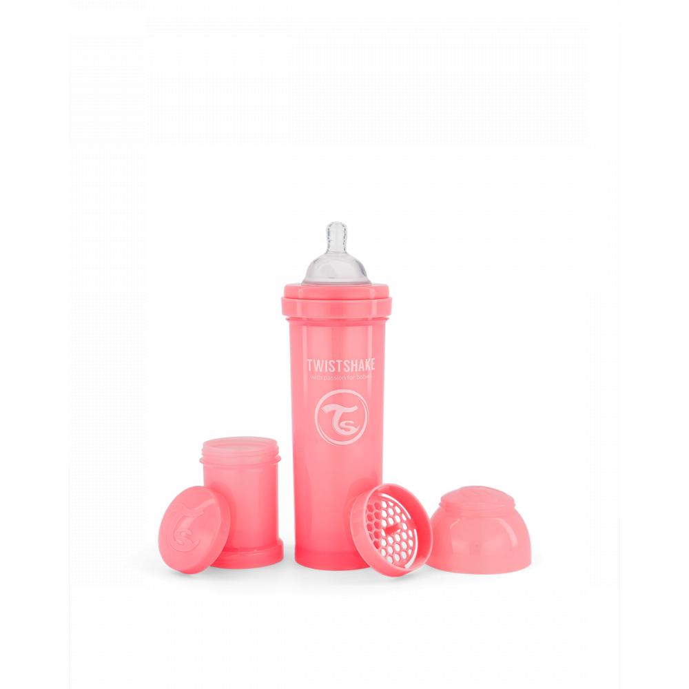 Twistshake Dojčenská fľaša Anti-Colic 330 ml, ružová