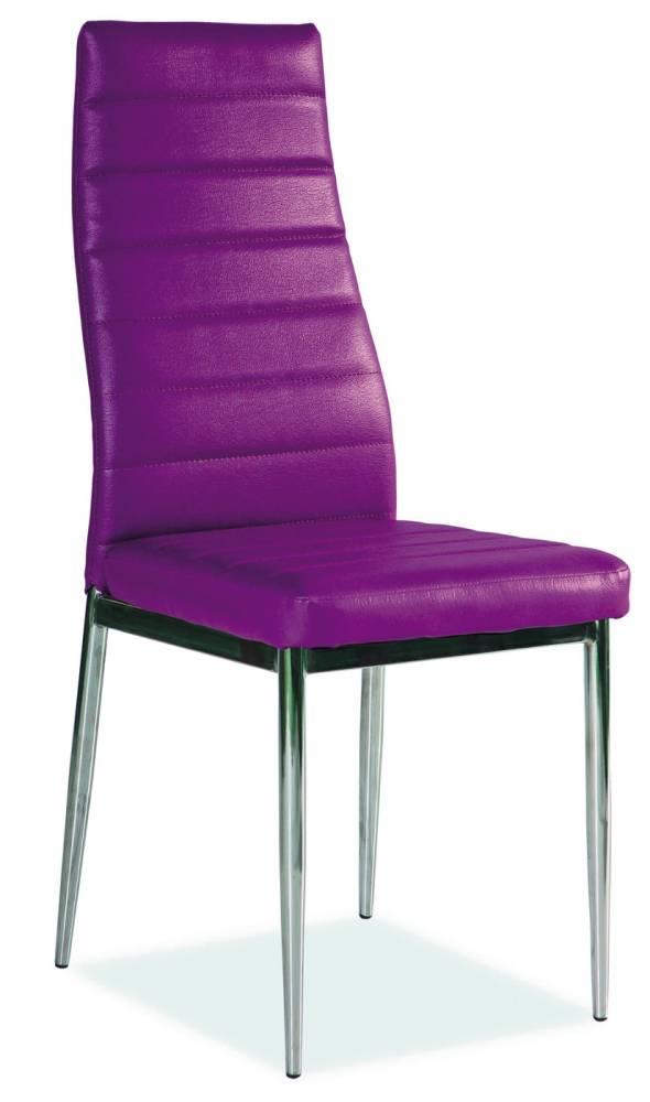 Jedálenská stolička H-261 (ekokoža fialová)