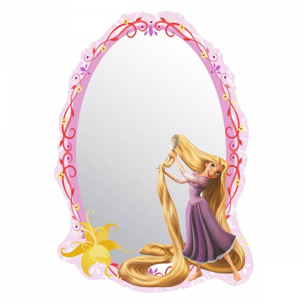 AG Art Samolepiace detské zrkadlo Rapunzel Princezná Locika, 15 x 21,5 cm