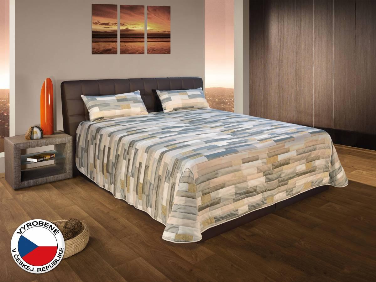 Manželská posteľ 180 cm Blanár Monaco (hnedá) (s roštami a matracmi)