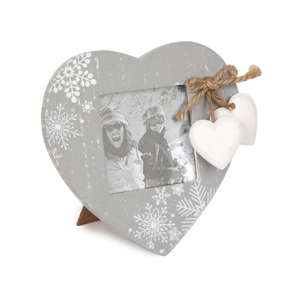 Altom Fotorámček Love Winter sivá, 14 x 14,5 cm