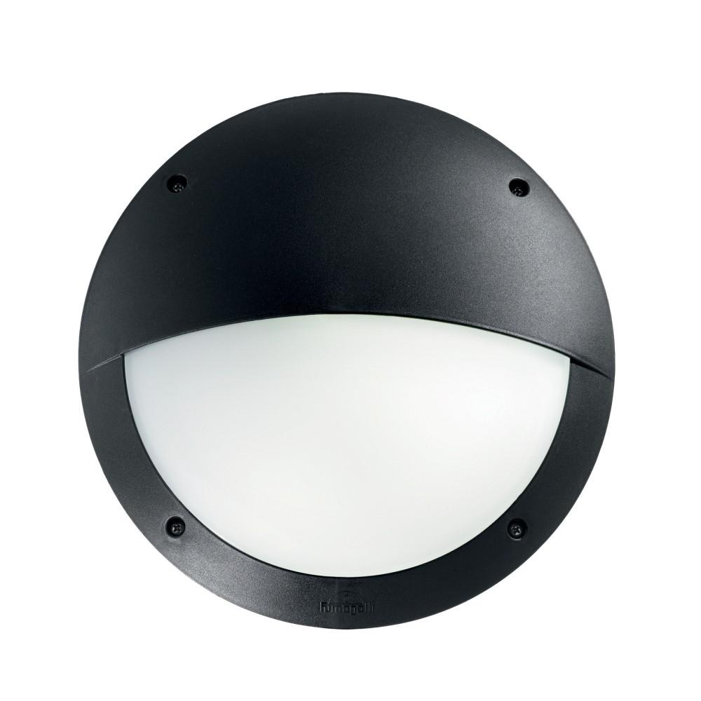 Čierne nástenné vonkajšie svietidlo Evergreen Lights Half Magna