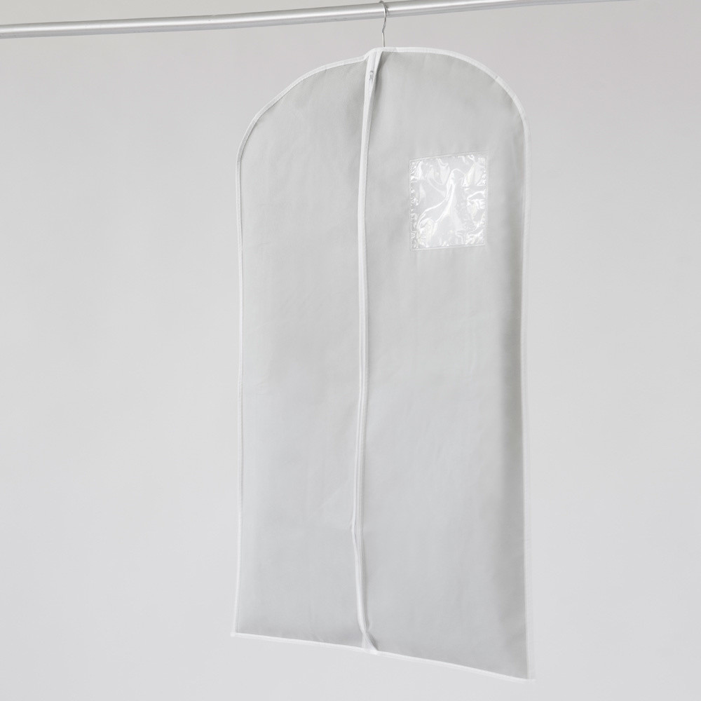 Textilný závesný obal na šaty Compactor Clear, 100 cm