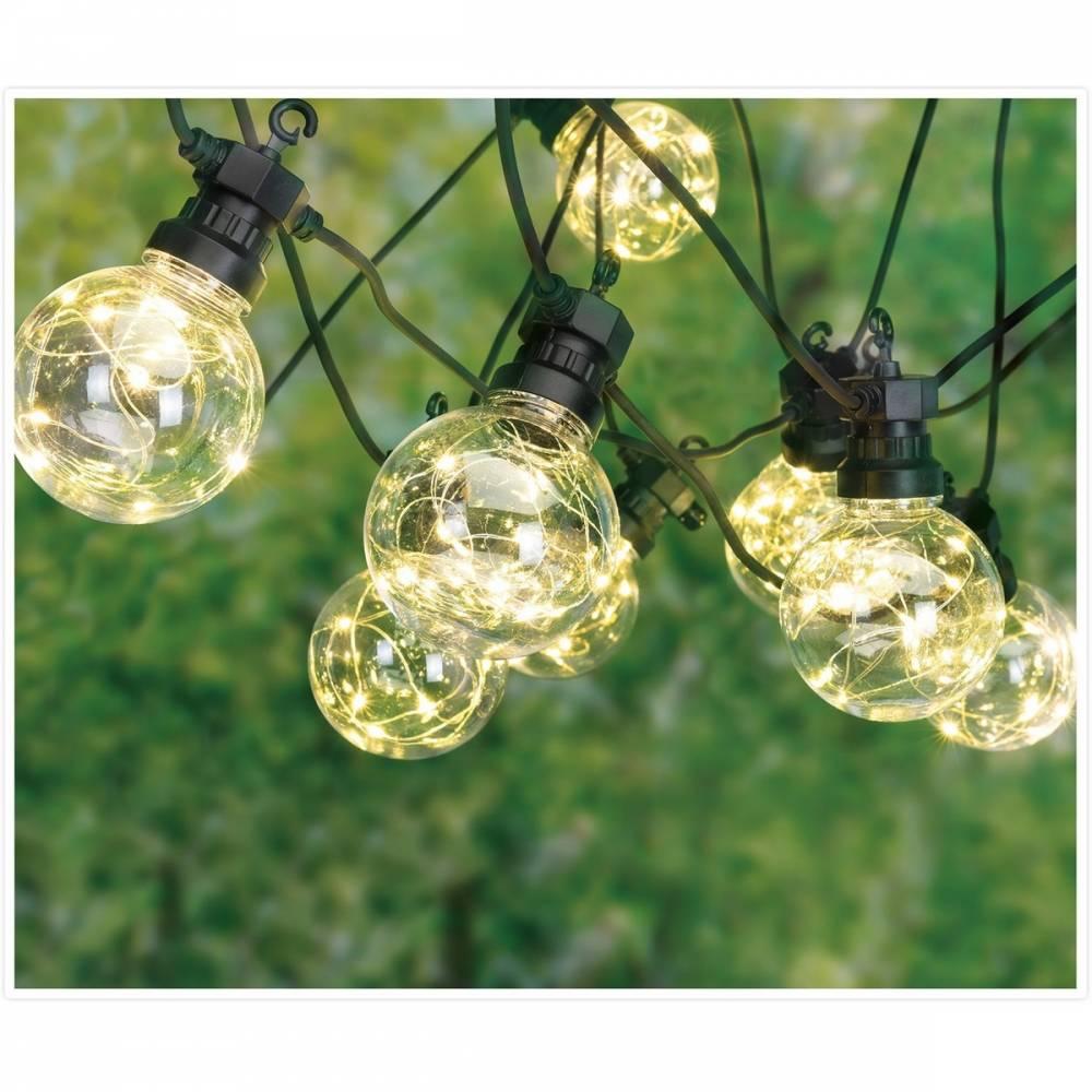 Vonkajšia party LED reťaz Bulbs, teplá biela