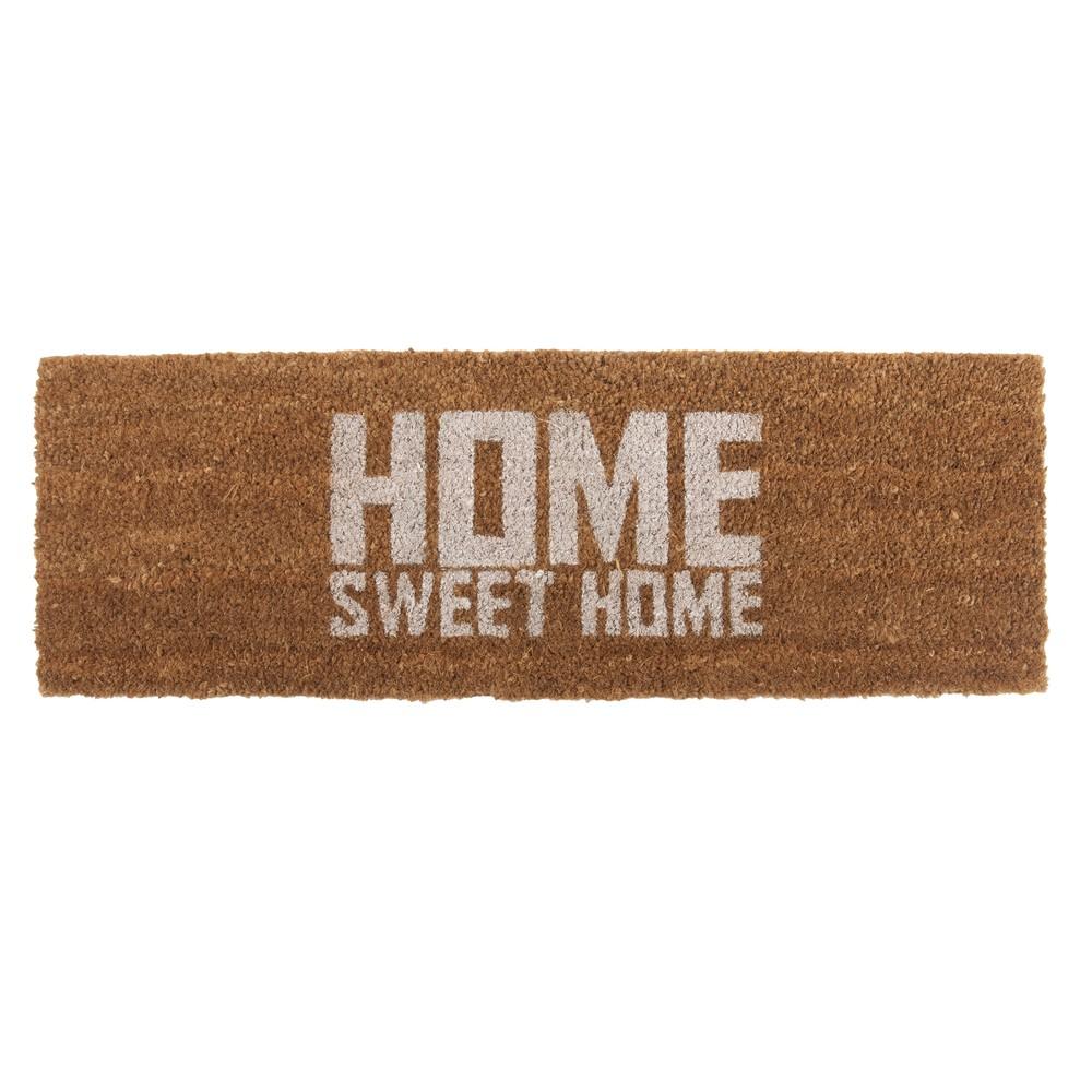 Rohožka s bielym nápisom PT LIVING Home Sweet Coir, 75x26cm