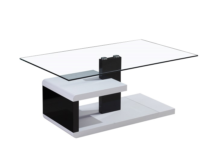Konferenčný stolík Lars (biela + čierna)