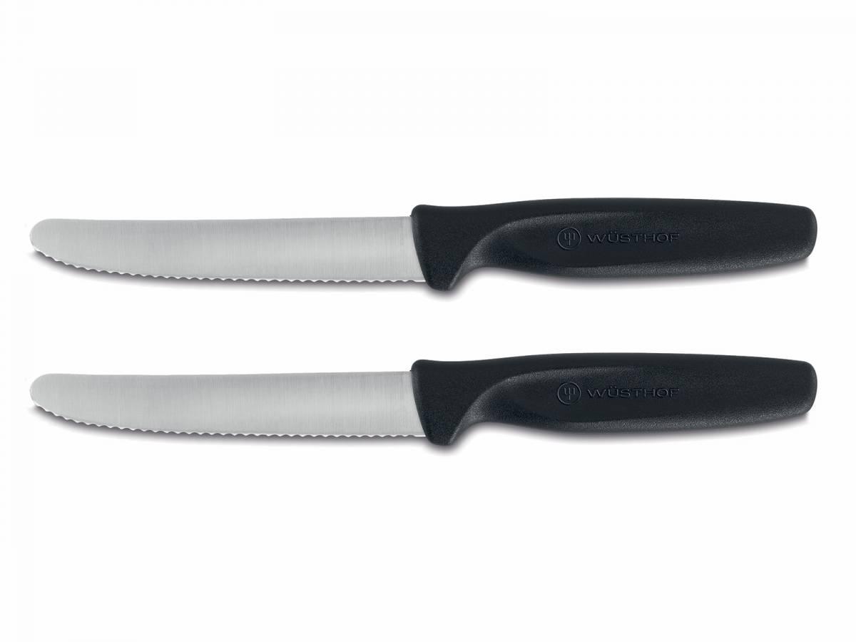 Sada nožov na zeleninu Create Wüsthof zúbkované čierneé 2 ks