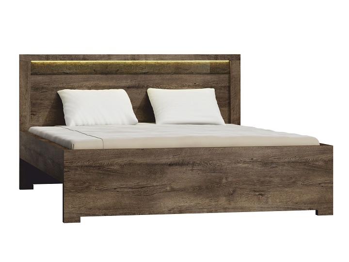 Manželská posteľ 160 cm Infinity (jaseň tmavý) (s roštom)
