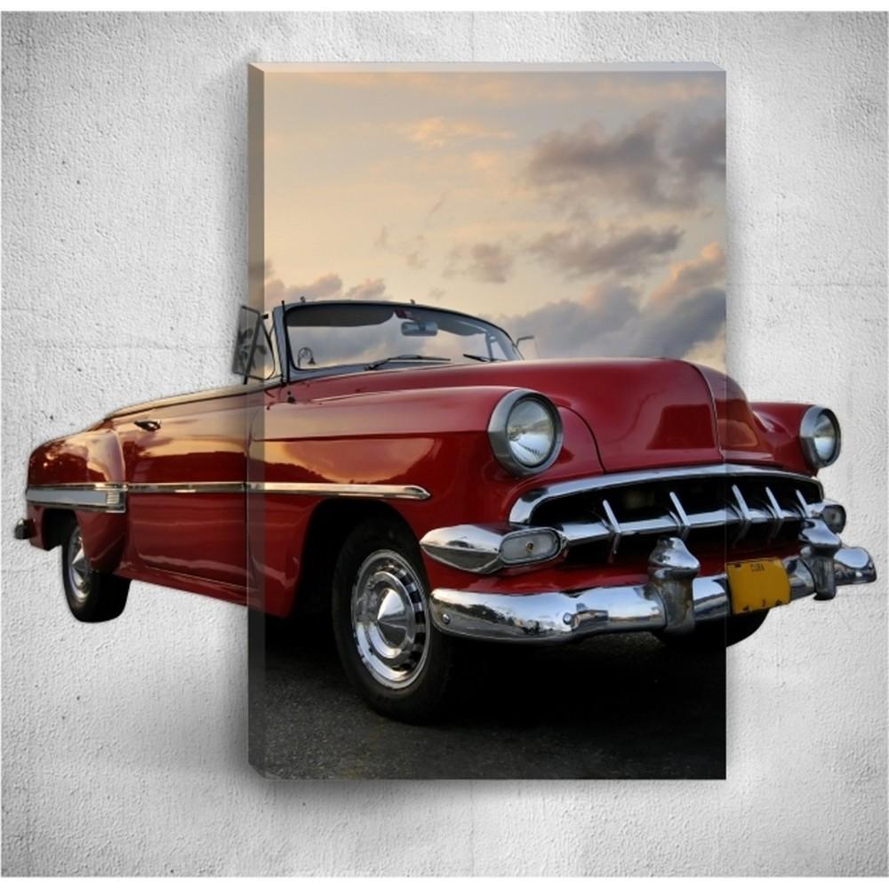 Nástenný 3D obraz Mosticx Retro Car, 40×60 cm