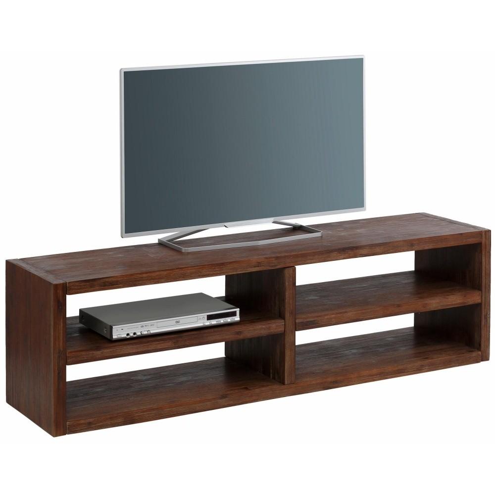 Široký TV stolík z masívneho akáciového dreva Støraa Cubic