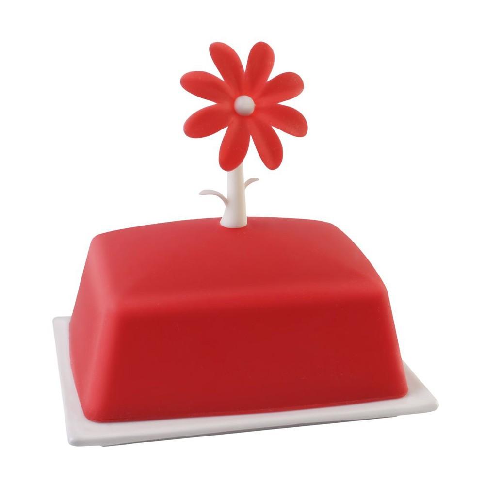 Červená nádoba na maslo Vialli Design Livio