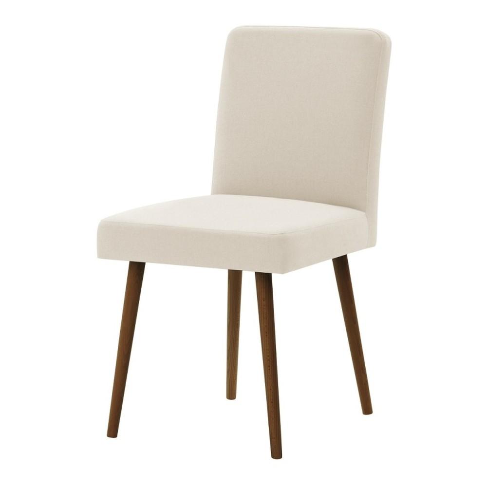 Krémová stolička s tmavohnedými nohami Ted Lapidus Maison Fragrance