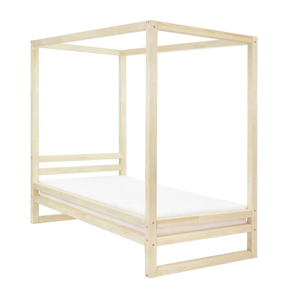 Jednolôžková posteľ z borovicového dreva bez povrchovej úpravy Benlemi Baldee, 80 × 200 cm