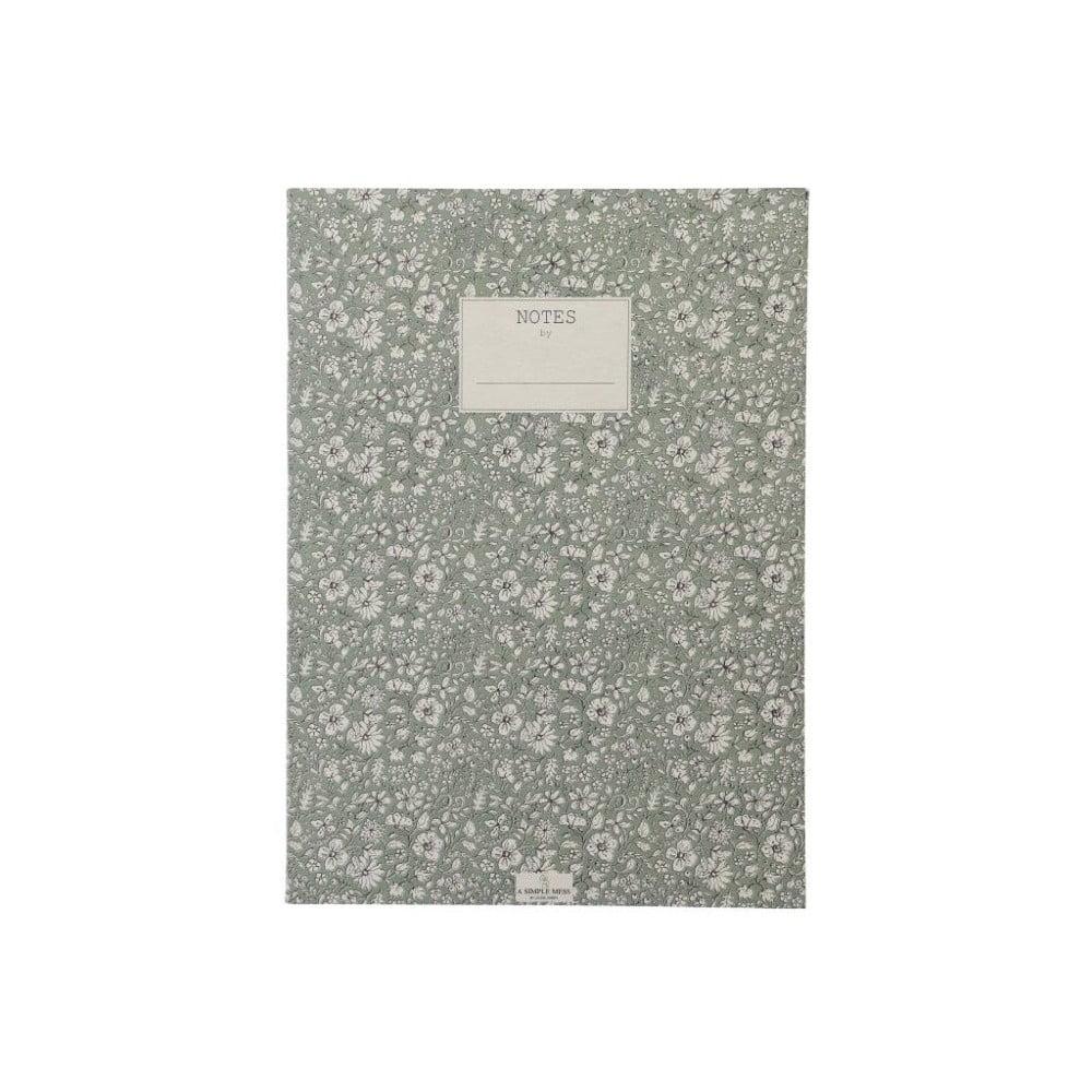 Zápisník A Simple Mess Nynne Hedge Green, 25×18 cm