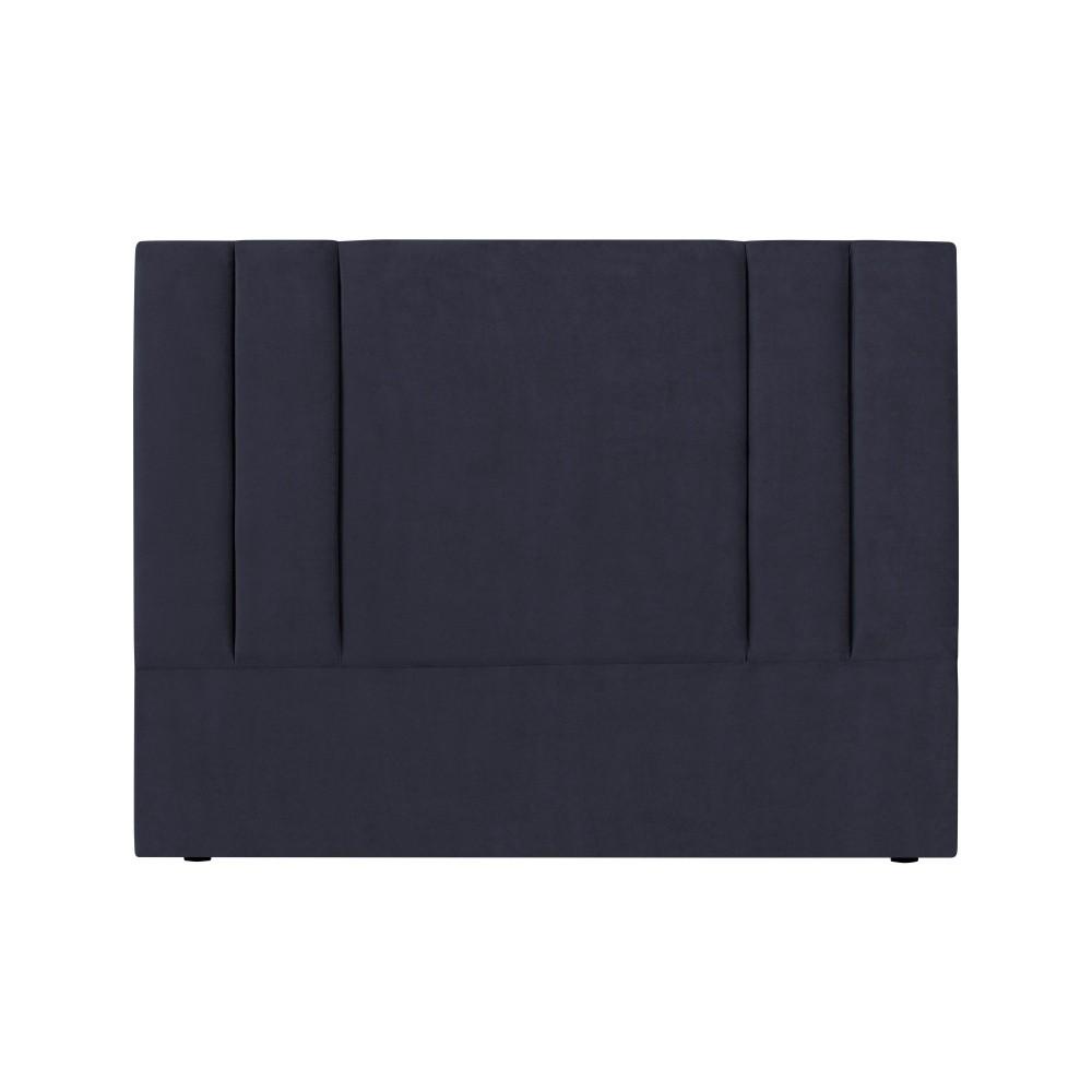 Tmavomodré čelo postele Kooko Home Kasso, 120 × 160 cm