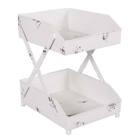 Dvojposchodový dekoratívny stolík Antic Line Banette
