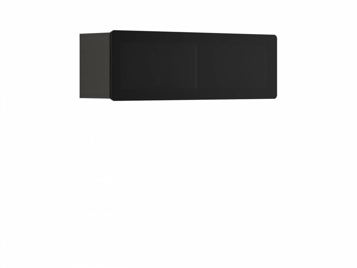 Vitrína na stenu Possi Light SFW1WK/4/13 (sivý wolfram) (s osvetlením)