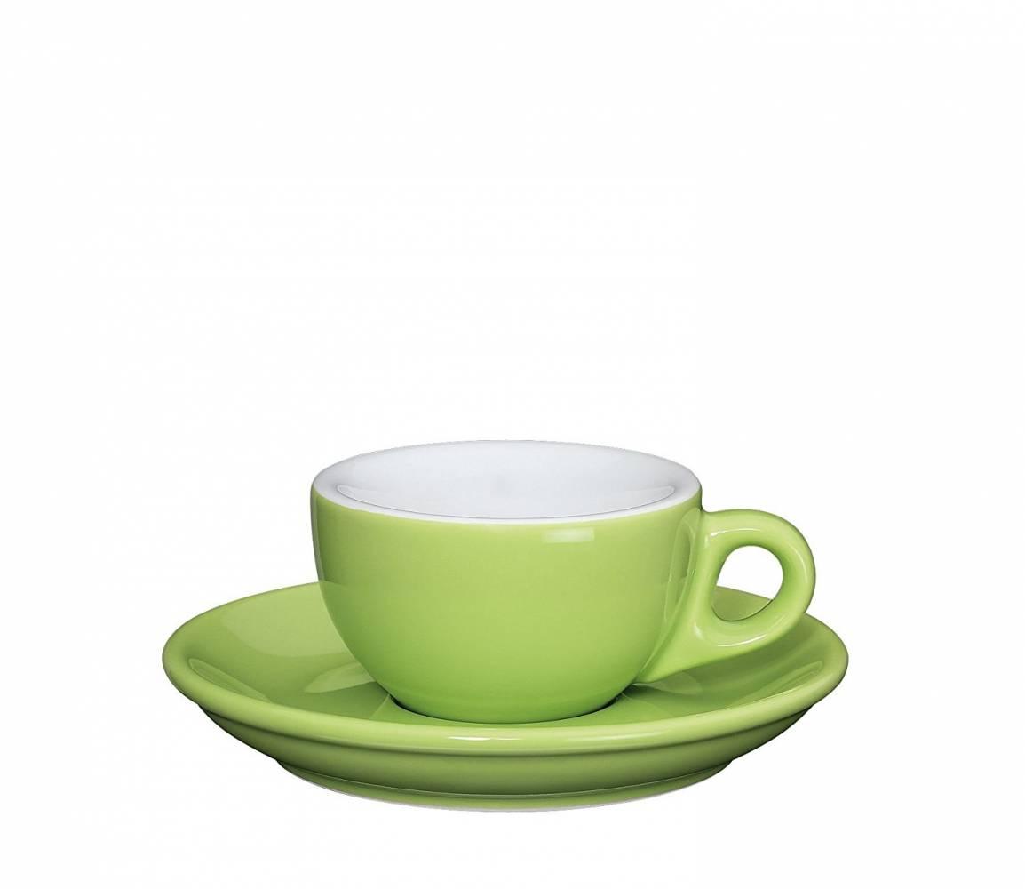 Šálka na espresso s podšálkou Roma svetlozelená 50 ml