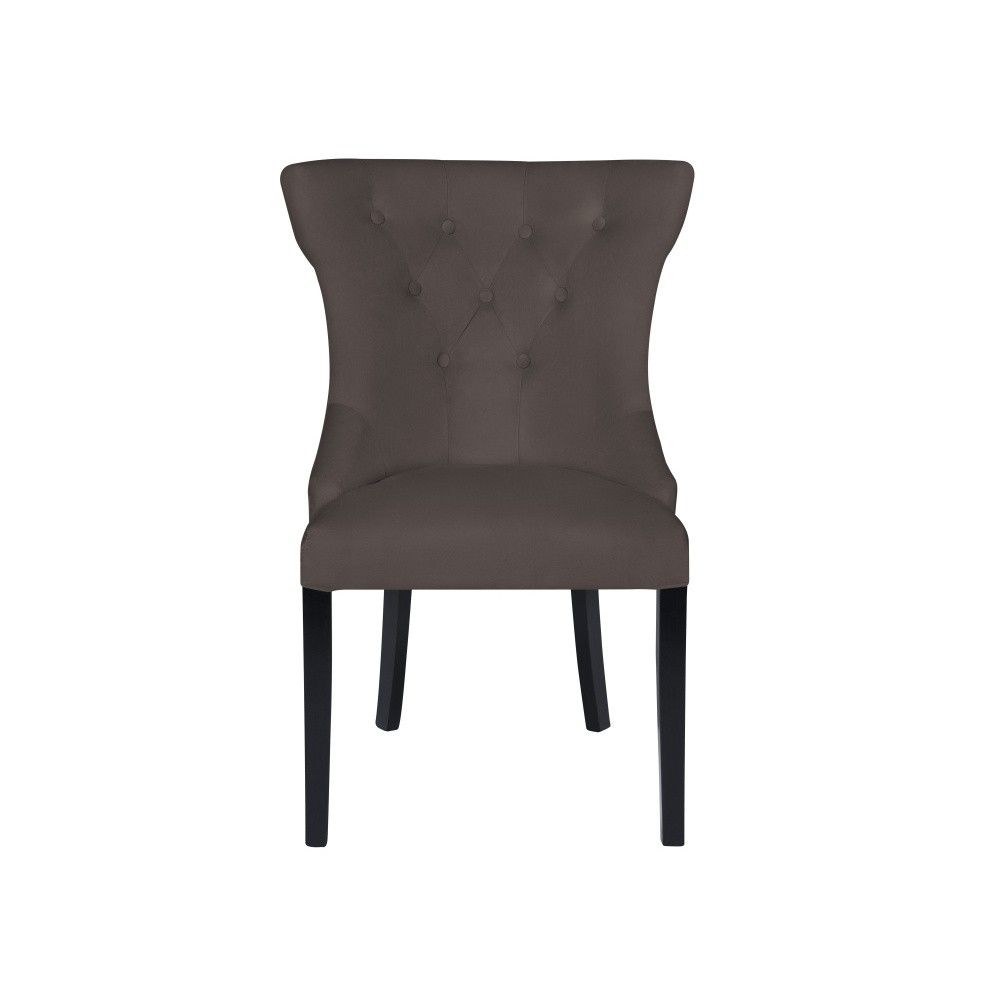 Antracitovosivá stolička Micadoni Home Mero