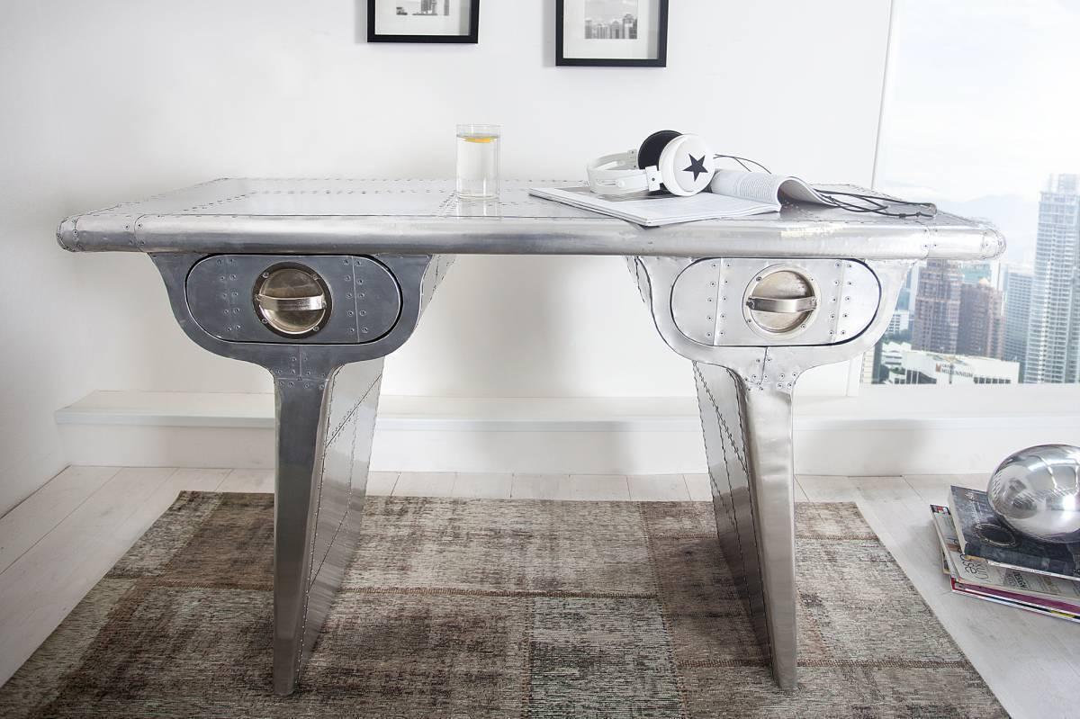 Písací stôl ALLOT MATT 120 cm - striborná