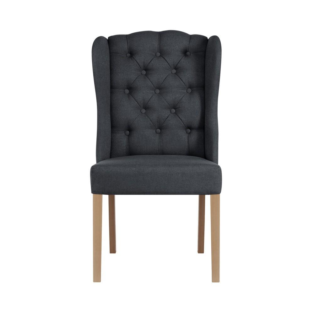 Antracitová stolička Jalouse Maison Hailey