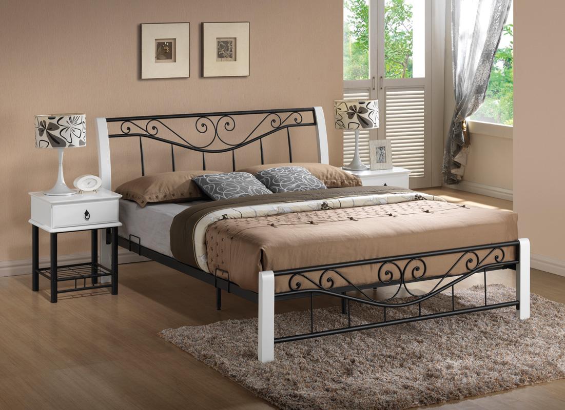 SIGNAL PARMA 160 posteľ s roštom - biela